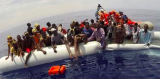 migrants in Libyan waters