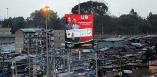 Campaign billboard of Uhuru-Ruto ticket