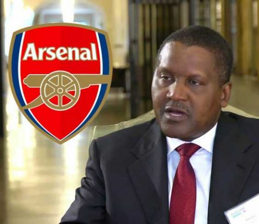 Mr Dangote said he would try to make a bid for the club once he is done with construction of an $11bn (£8.5bn) oil refinery in Lagos
