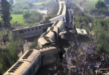 Train collision in Alexandria Egypt