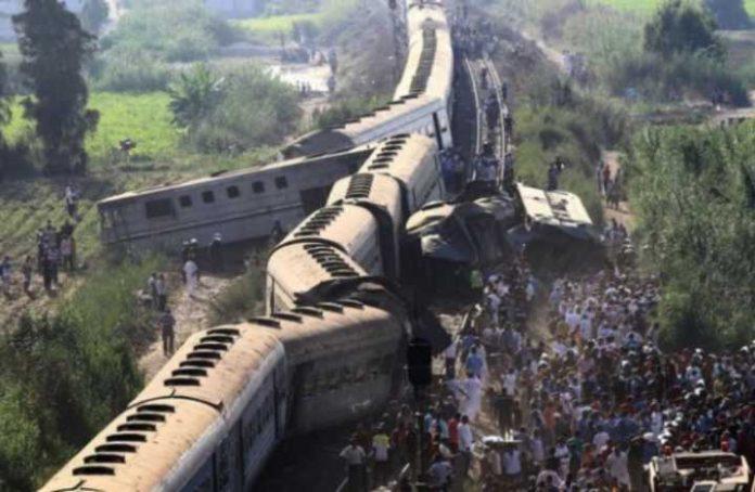Train collision in Alexandria Egypt