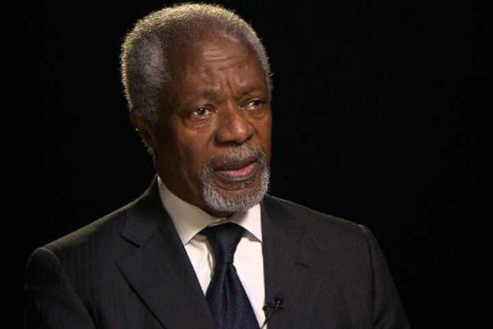 Former U.N. chief Kofi Annan