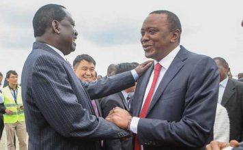 Odinga and Uhuru
