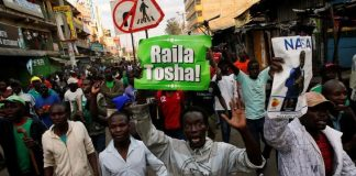 Supporters of Raila Odinga