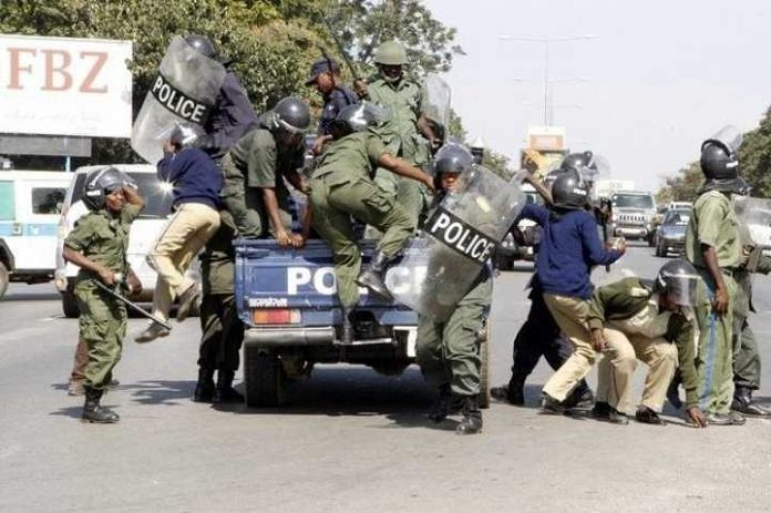 Zambia Police at work