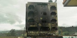 Bamenda is dotted with a number of burnt buildings as a result of the unrest