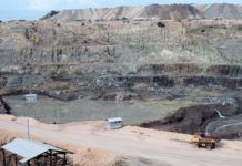 The Mwadui kimberlite diamond pit in Tanzania