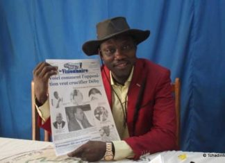 Juda Allahondoum, editor of Le Visionnaire, was detained by police in the capital N'Djamena