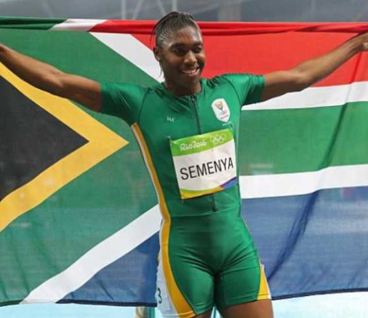 South African speed sensation, Caster Semenya