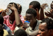 Stranded African migrants in Libya