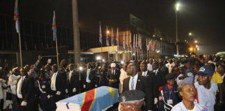 Etienne Tshisekedi's body lying in State in the capital Kinsasha
