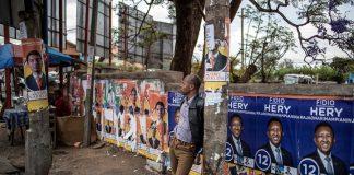 Rajoelina and Ravalomanana posters in Antananarivo
