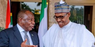 Nigeria Buhari and Ramaphosa of South Africa on African trade deal