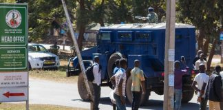 US ambassador to Malawi caught in election protest