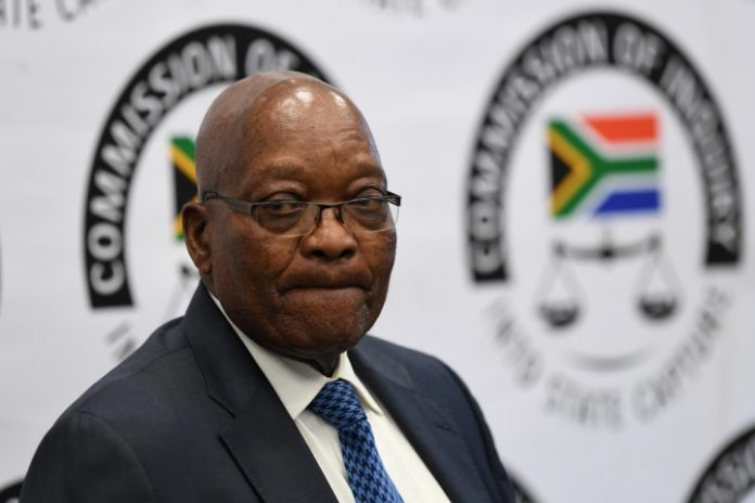 South Africa's Zuma, back at inquiry, says his life is in danger