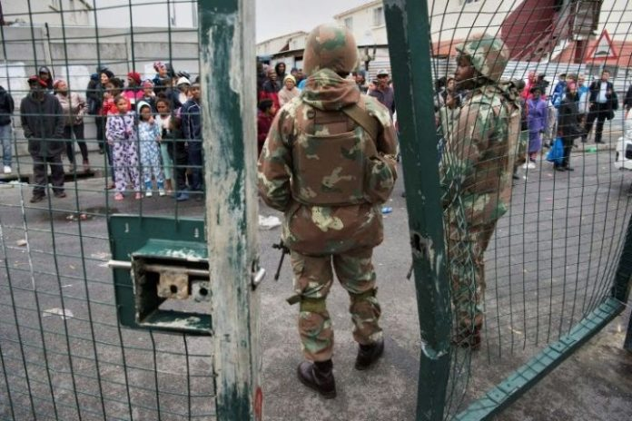 Army deployed in South Africa to halt gang violence