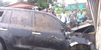 Female opposition politician vehicle smashed in Liberia
