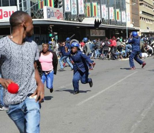 Tear gassed and beaten; summary of Zimbabwe opposition protesters