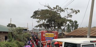 Several school kids trapped under collapsed classroom in Nairobi