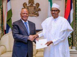 South african envoy, Jeff Radebe in Nigeria