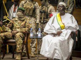 Post coup Mali interim president and vice sworn in